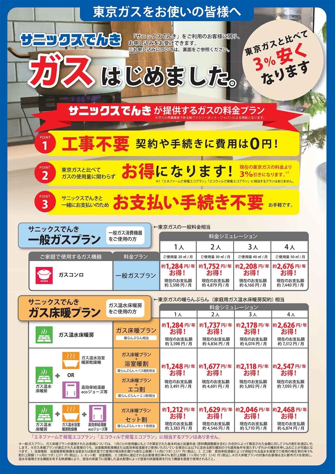 東京 ガス 電気 シミュレーション